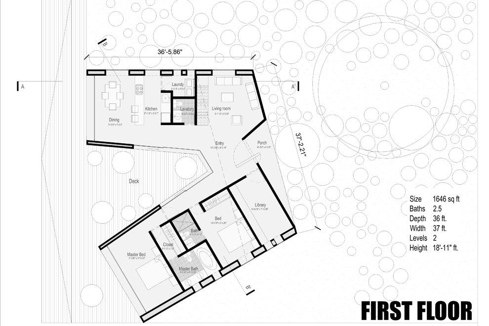 Siete01 Julian Alonso Gomez Bedoya V Shaped House Floor Plan Design House Plans U Shaped House Plans House plan vs floor plan