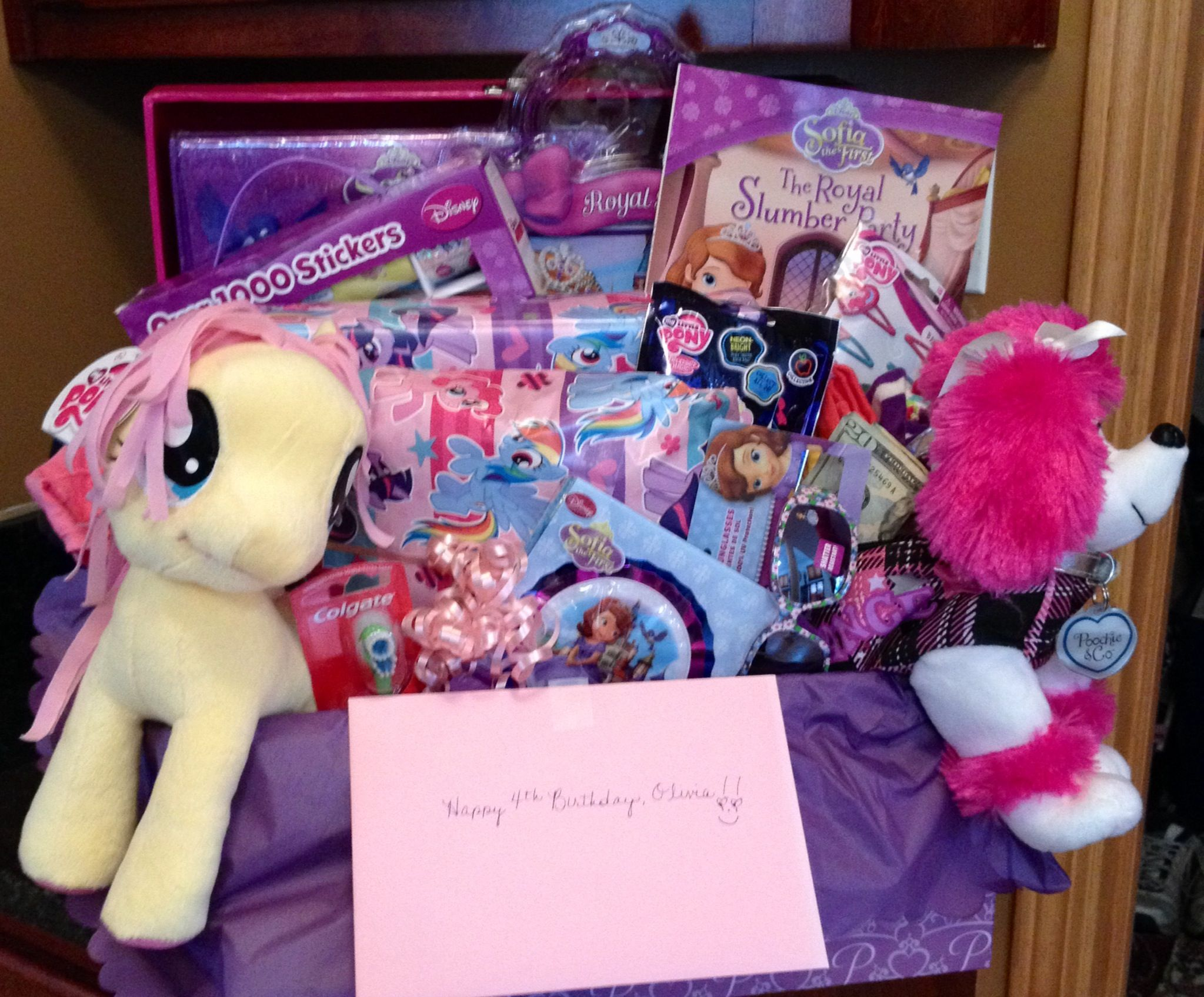 Girls birthday gift baskets toys