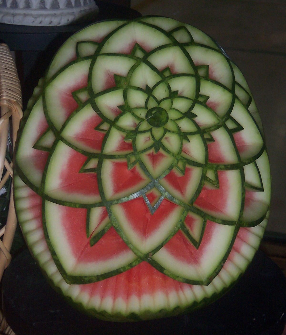 Watermelon carving fruit art pinterest