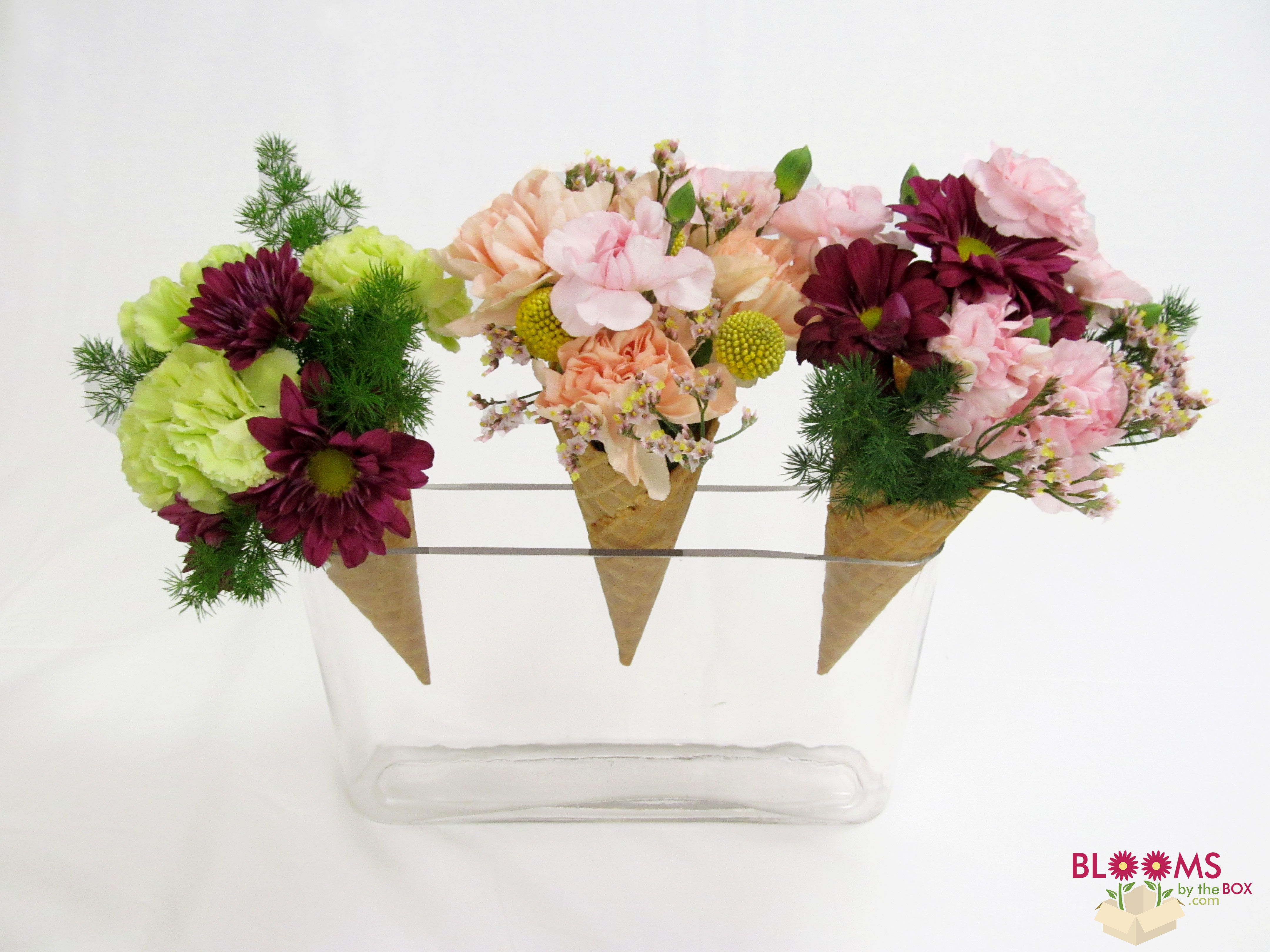 Planning A Bridal Shower Or Birthday Party These Flower Ice Cream Cones Are An Adorable Addition To Any Party And Look Good Flower Cake Floral Ice Flower Ice
