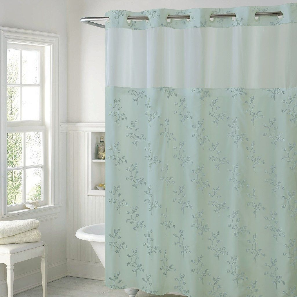 Hookless Spring Leaves Shower Curtain Liner Shower Curtains