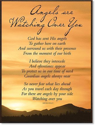 Poem About Angel Watching Over Angels Watching Over You Poems