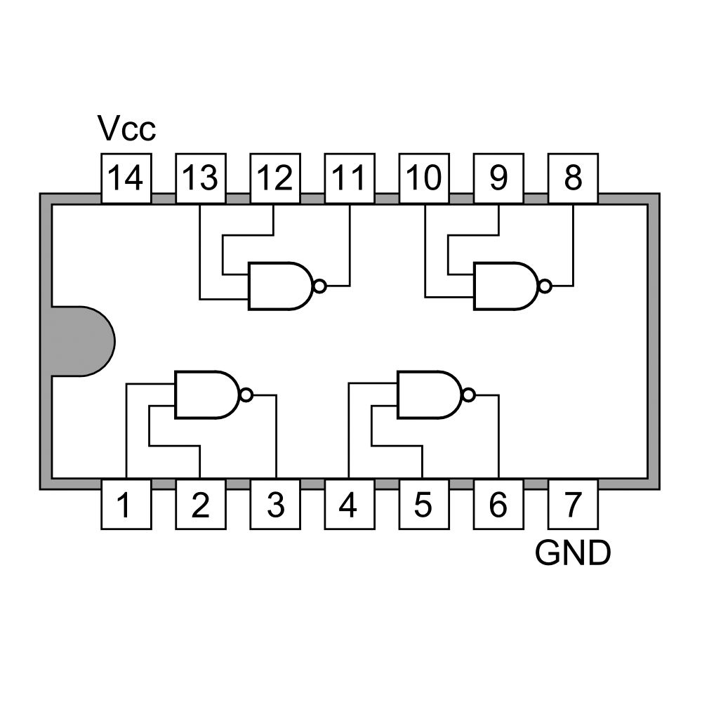 hight resolution of 74ls00 quad 2 input nand gate buy online in india robomart