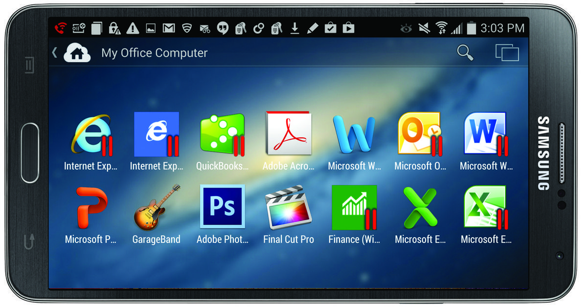 Parallels access now available on the android os http