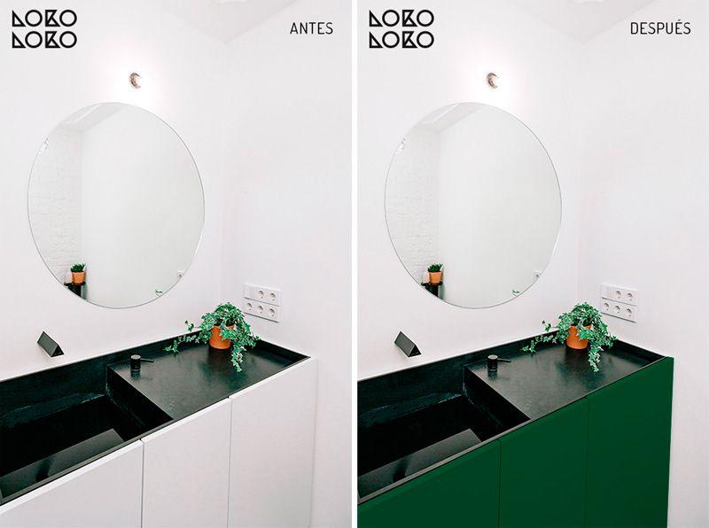 Recopilación de antes y después con vinilo decorando ...