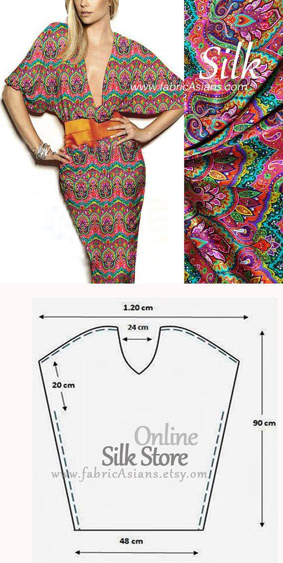 by fabricAsians | moldes | Pinterest | Tela de seda, Seda y Ventas