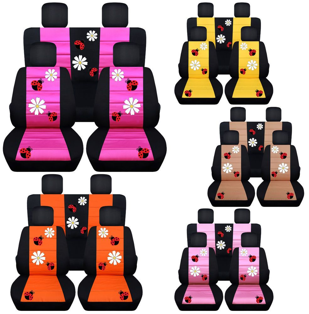 Cc Front And Rear Car Seat Covers Vw Beetle Daisy Lady Bug