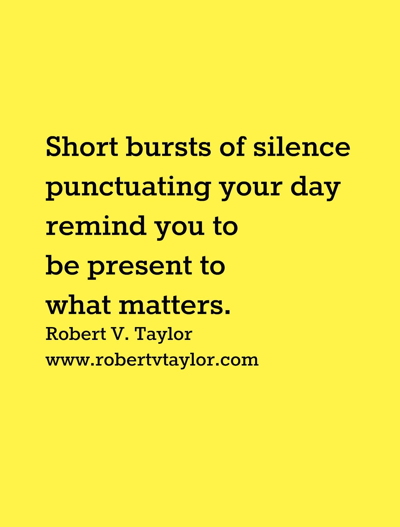Be Surprised By What Short Bursts Of Silence Reveal
