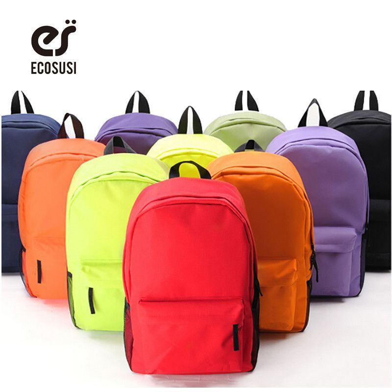 Photo of ECOSUSI New Women Backpack Campus 10 Colors Backpack High Quality School Backpac…