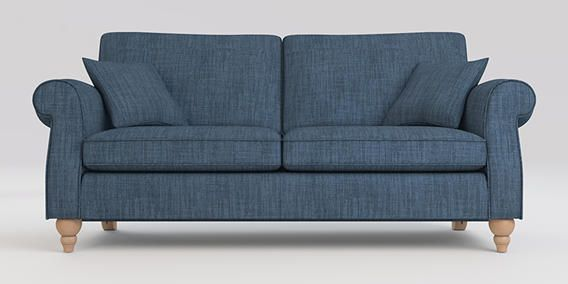 Buy Ashford Large Sofa (3 Seats) Belgian Soft Twill Navy Low Turned - Light from the Next UK online shop