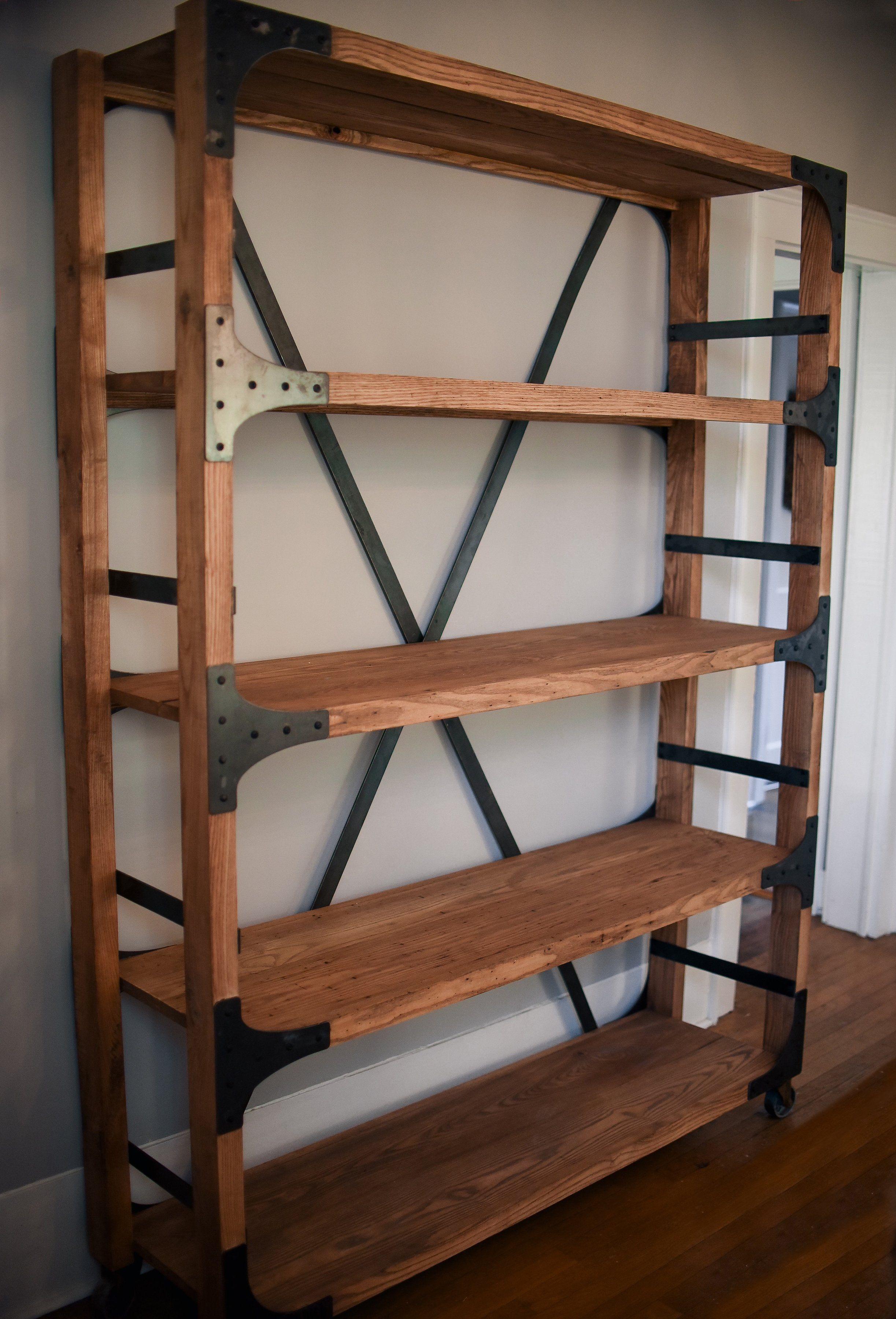 Farmhouse Shelf Bookcase diy, Shelves, Farmhouse shelves