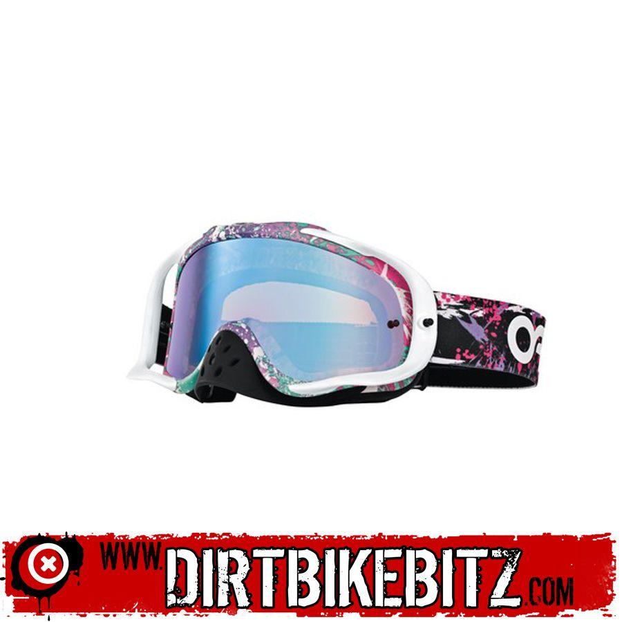 83e3a51bd0 2014 Oakley Crowbar Motocross Goggles - Factory Splatter - Violet Irridium