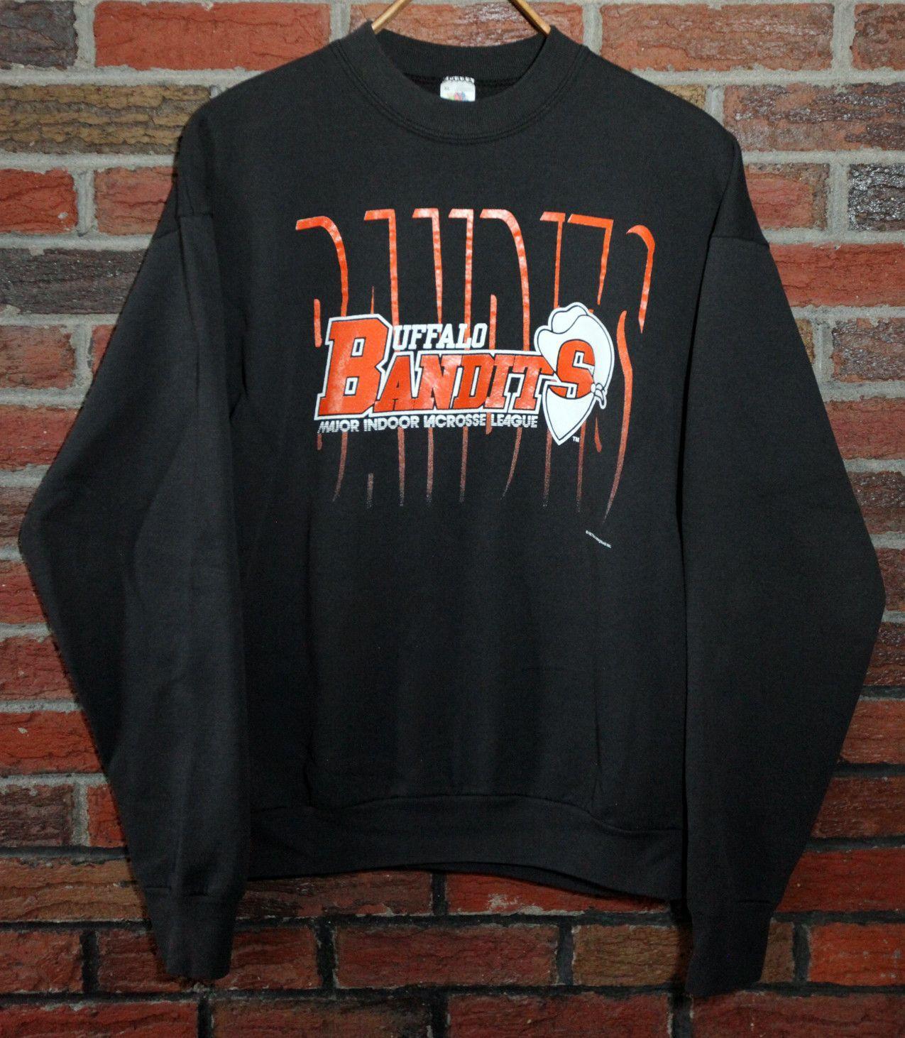 Vintage 1992 Buffalo Bandits Crewneck Sweatshirt Sz Xl Sweatshirts Crew Neck Sweatshirt Vintage Sportswear [ 1462 x 1275 Pixel ]
