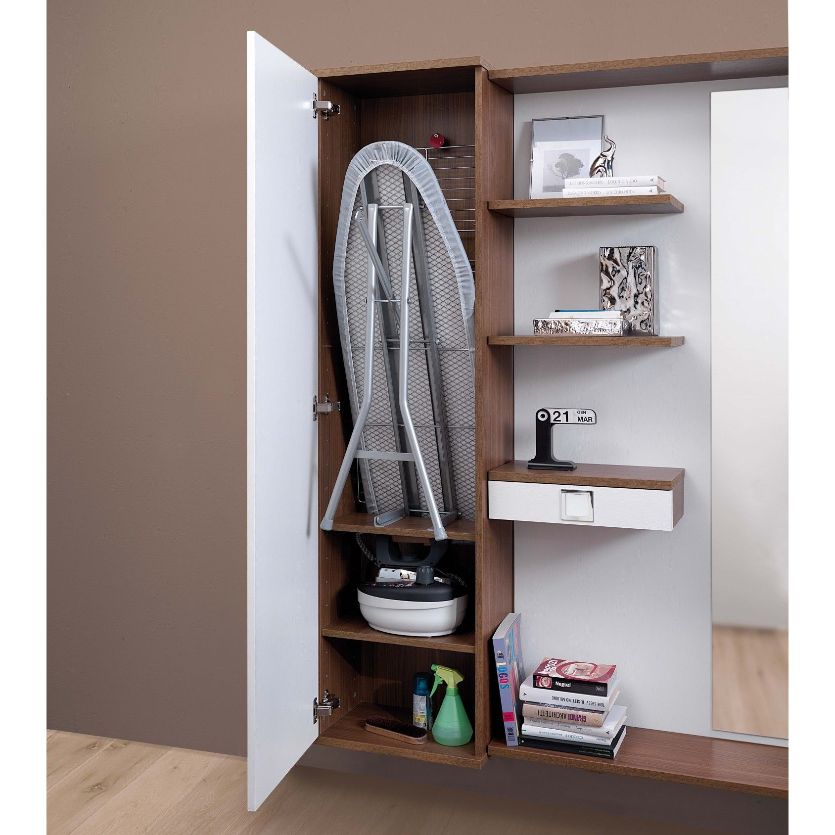Mobile con asse da stiro a scomparsa cambridge arredaclick home complements ideas - Mobile asse da stiro ikea ...