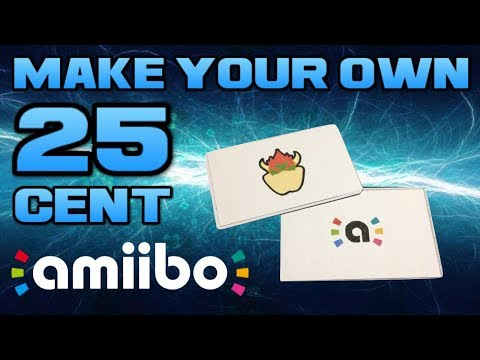 How To Make Amiibo For Just 25 Youtube Amiibo How To Make Card Template