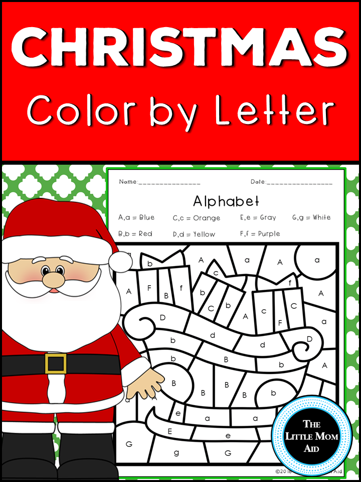 Christmas Color By Letter Alphabet Coloring Pages Elementary Classroom Christmas Christmas Kindergarten Holiday Worksheets