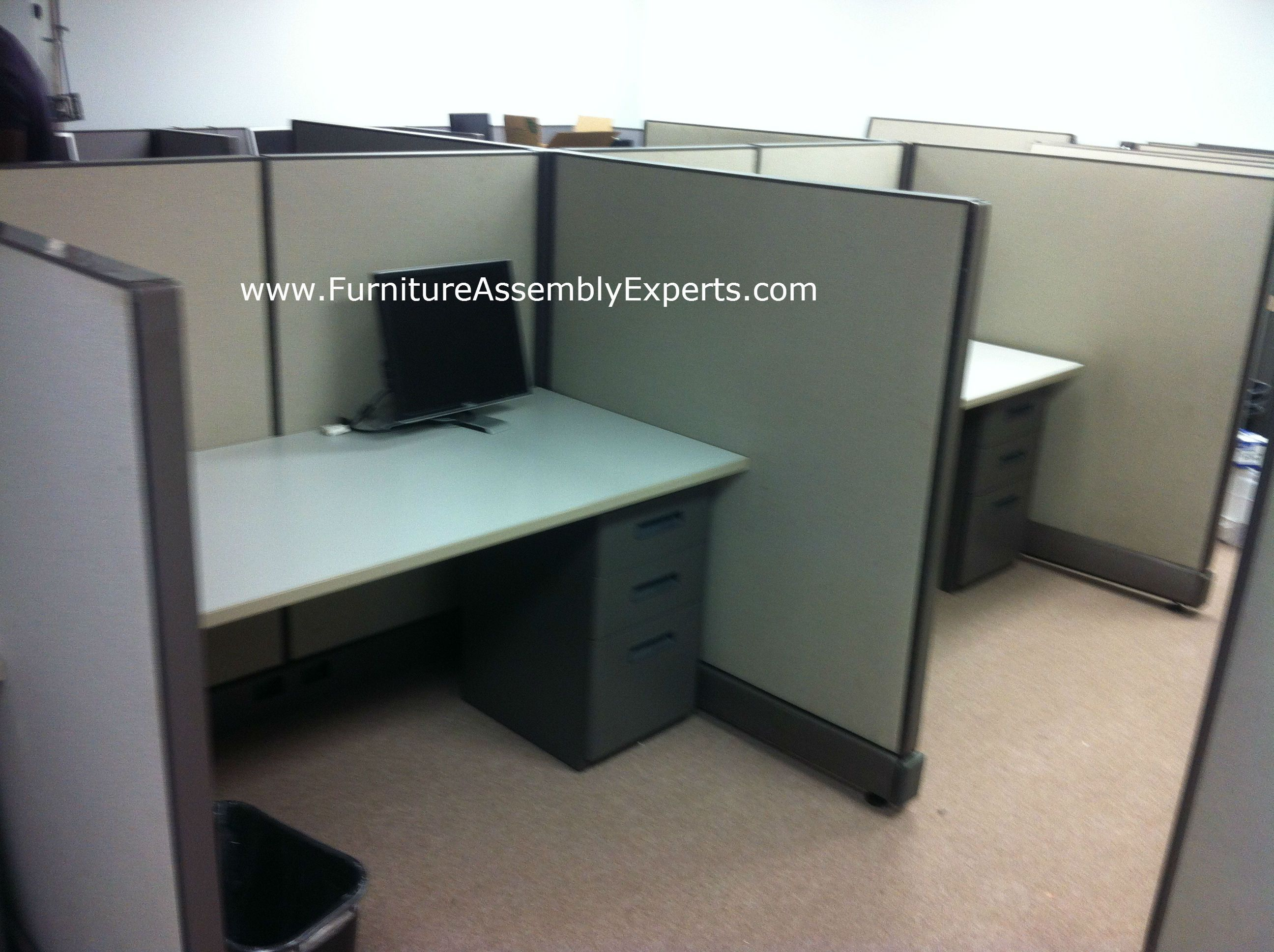 Used Office Cubicle Embled In Baltimore Md By Furniture Embly Experts Llc