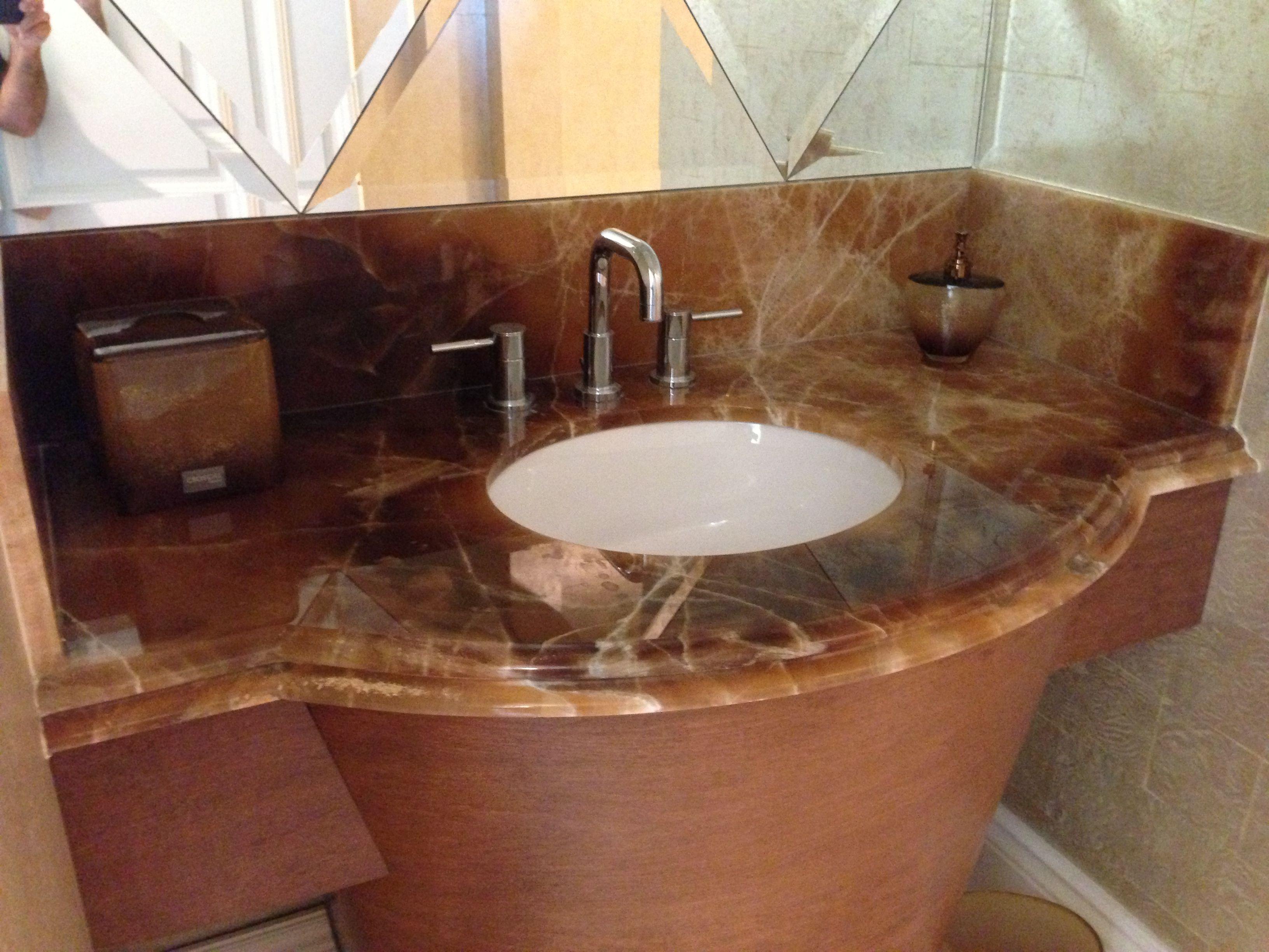 Brown Granite Bathroom Vanity Countertop | ADP Surfaces of ...