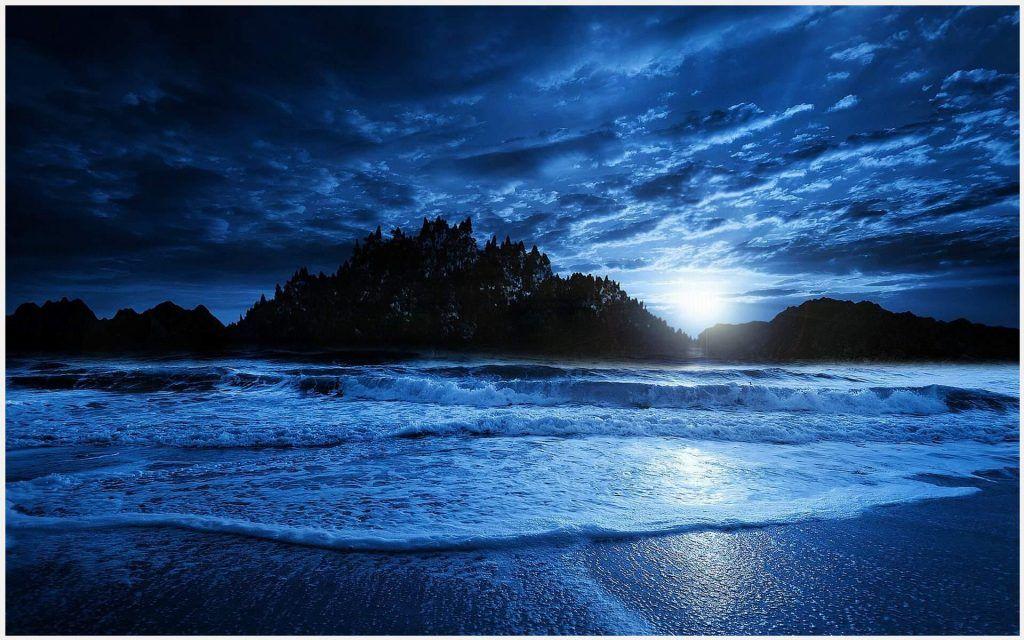 Blue Beach Night Wallpaper Blue Beach Night Wallpaper 1080p Blue Beach Night Wallpaper Desktop Blue Beach Night Wallpap Beach Night Blue Beach Beach Beauty