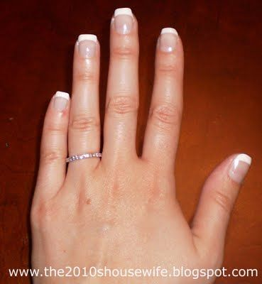 budget french manicure  french manicure diy manicure