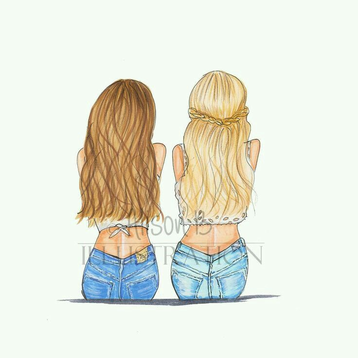 Pin By Melodieace On Friends Friends Illustration Bff Drawings Best Friend Drawings