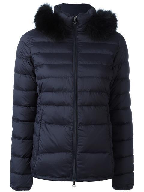 Duvetica Alia Coat With Fur Trim