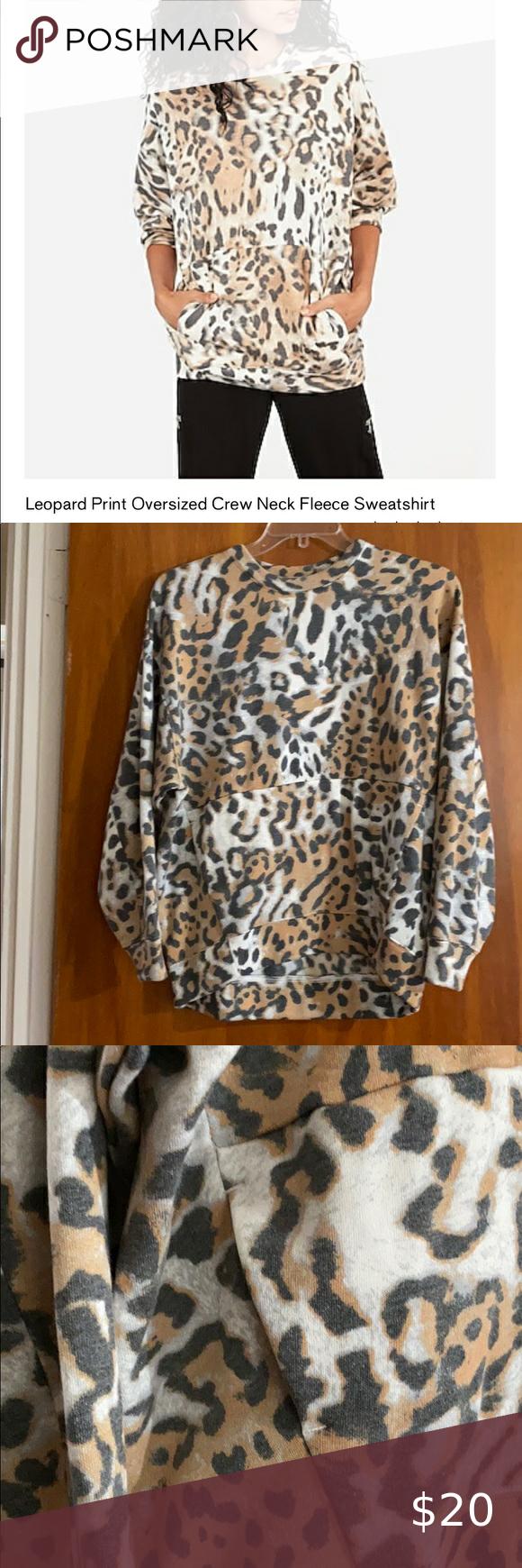 Express Oversized Crew Neck Leopard Sweatshirt Leopard Sweatshirt Sweatshirts Sweatshirt Fleece [ 1740 x 580 Pixel ]