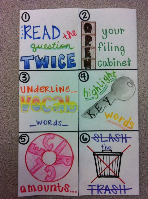 Test Taking Skills Foldable...need to make a math version for the ...