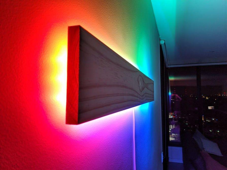 Super Simple Rgb Wifi Lamp In 2020 Led Lighting Diy Led Wall Lights Lamp