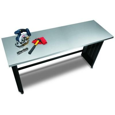 Husky 6 Ft Stainless Steel Top Workbench 72wb01ss Thd The Home Depot 250 Steel The Home Depot Workbench