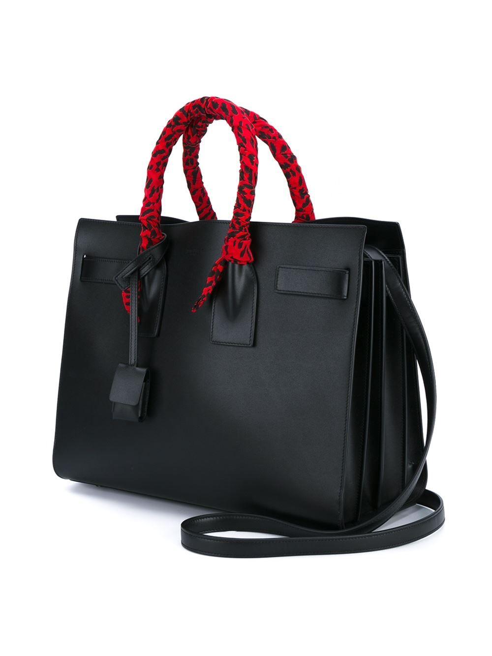 12eb1aaf5d47 Saint Laurent Small Sac De Jour Leather Tote Bag