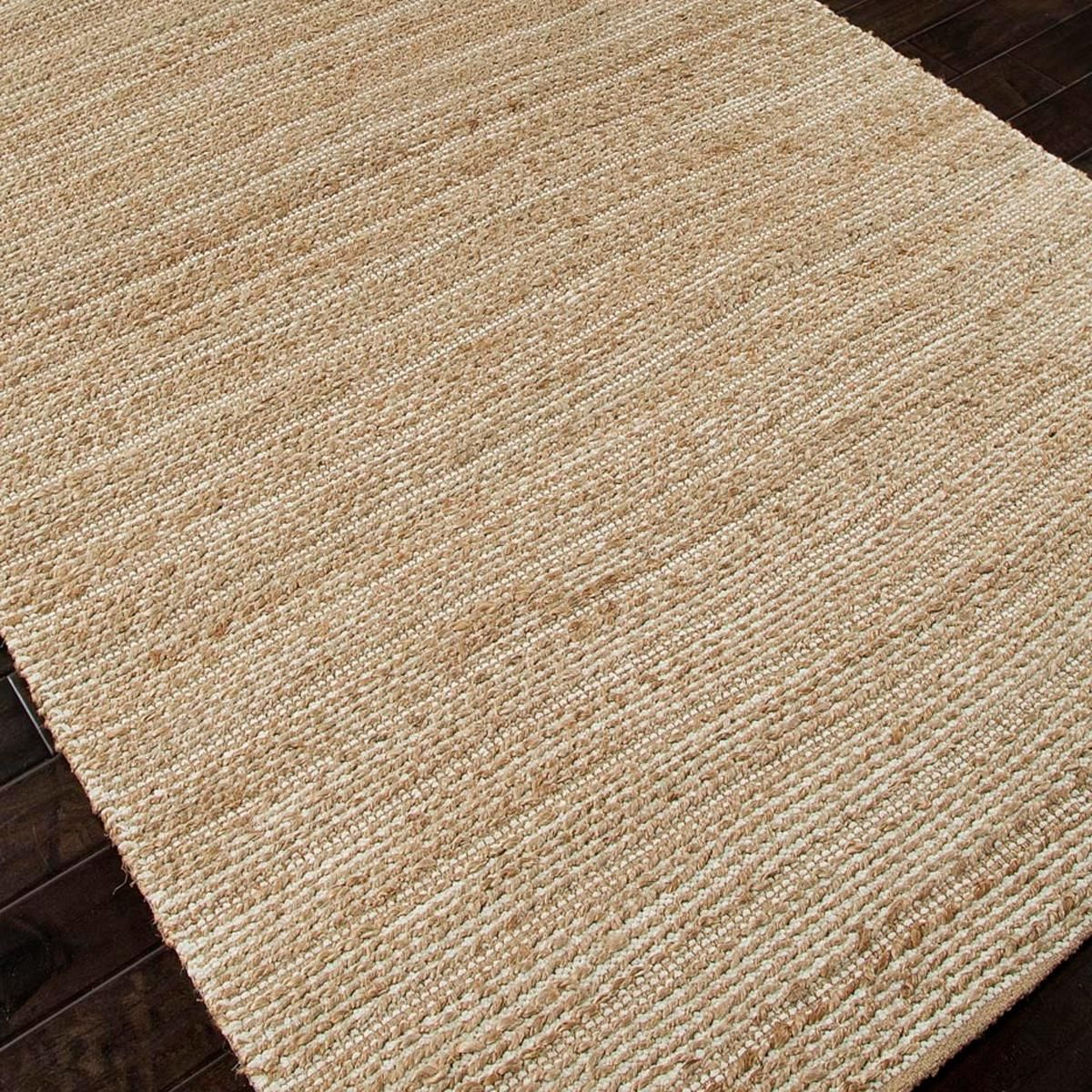 Gypsy Stripe Turquoise Grey Woven Cotton Rug: Chenille Texture Subtle Stripe Rug