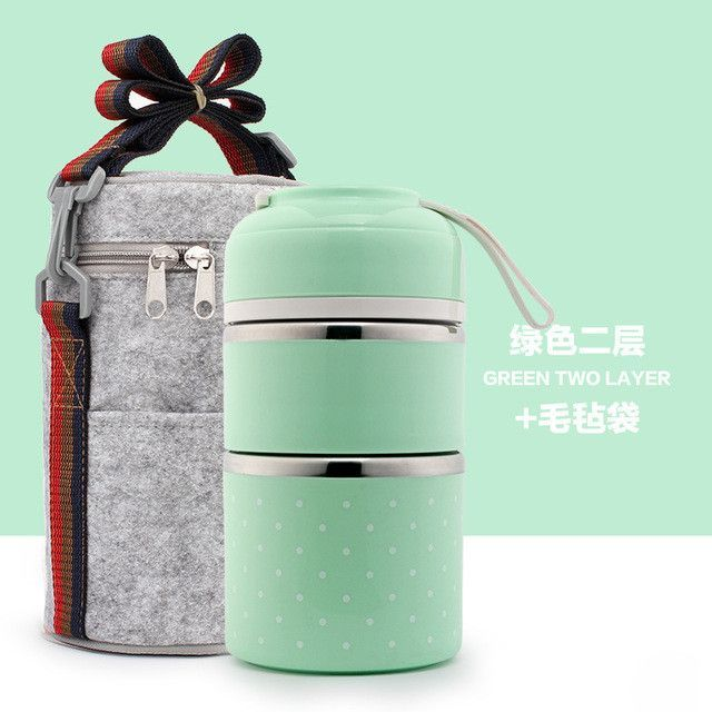 960ddaa9d412 Portable Cute Mini Japanese Bento Box Thermal Insulation Leak-Proof ...