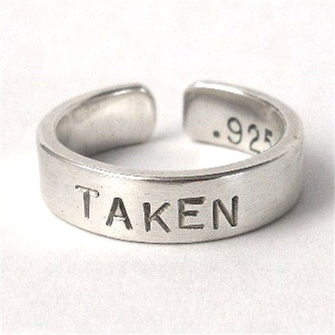Funny Engagement Ring Adjustable Sterling Silver Ring Mens Ring