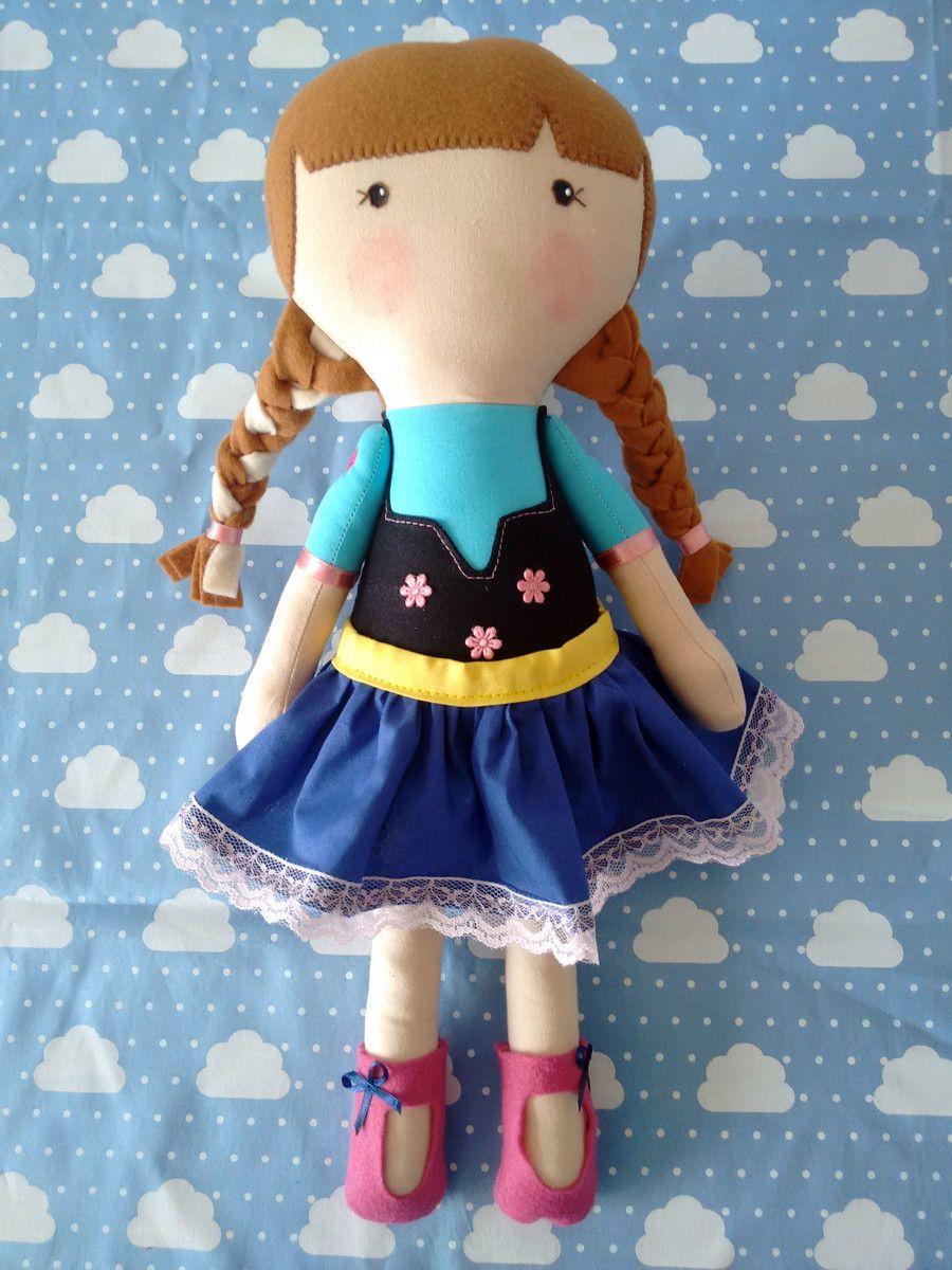 Bonecas Anna Frozen no estilo Serelepe com 40cm de altura  * feita em tecido 100% algodão  * detalhes em feltro  * fazemos outros modelos e cores