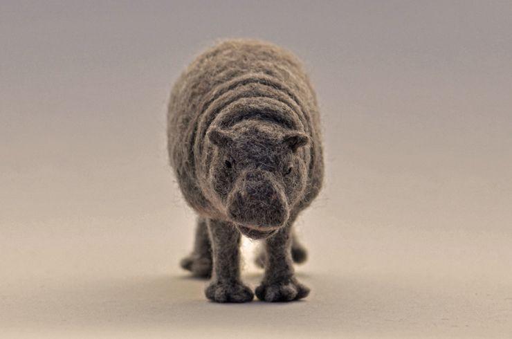 シロクマ 羊毛フェルト