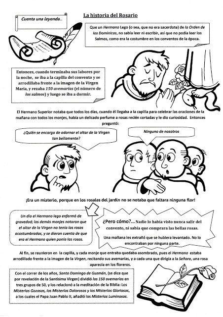 La Historia Del Rosario Rosario Para Ninos Catequesis Historia De Los Santos