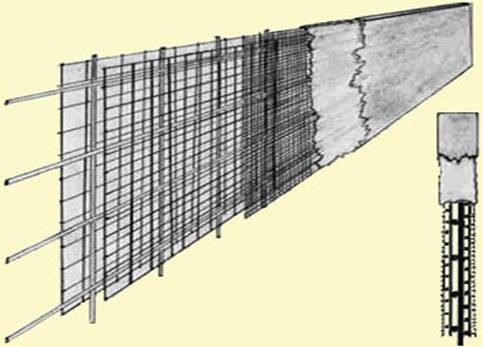 Cross Section Of A Ferro Cement Structure Idea Similar To Cf Cement House Cement Cement Walls