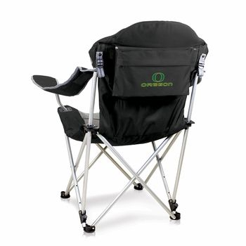 Oregon Ducks Black Reclining Camp Chair Camping Chairs