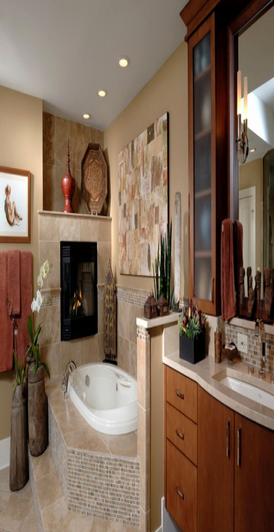 47 Beautiful Spa Bathroom Decorating Ideas | Spa bathroom ...