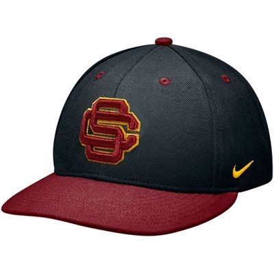 5505bad1b1e ... canada nike usc trojans true authentic fitted baseball hat black  cardinal f9956 d0713
