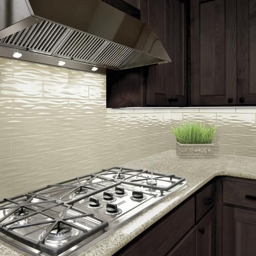 Mohawk Vivant Wave Gloss Taupe 4 1 4 X 12 3 4 Ceramic Wall Tile Ceramic Wall Tiles White Kitchen Tiles Kitchen Tiles Backsplash