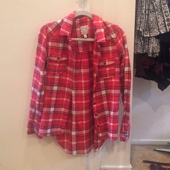 Flannel Red billabong flannel! Billabong Jackets & Coats