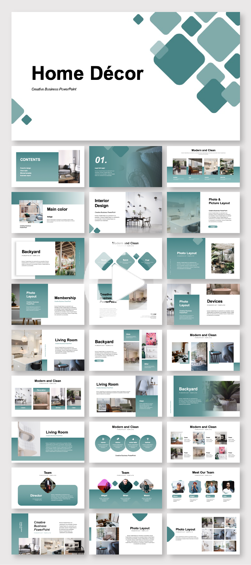 Creative Home Decor Presentation Template Original And High Quality Powerpoint Templ Powerpoint Design Templates Powerpoint Design Presentation Design Layout