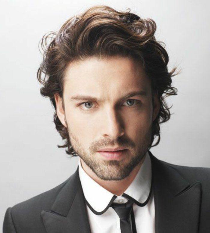 costard noir et blanc, cheveux frises homme tendances 2017 pour cheveux chatins