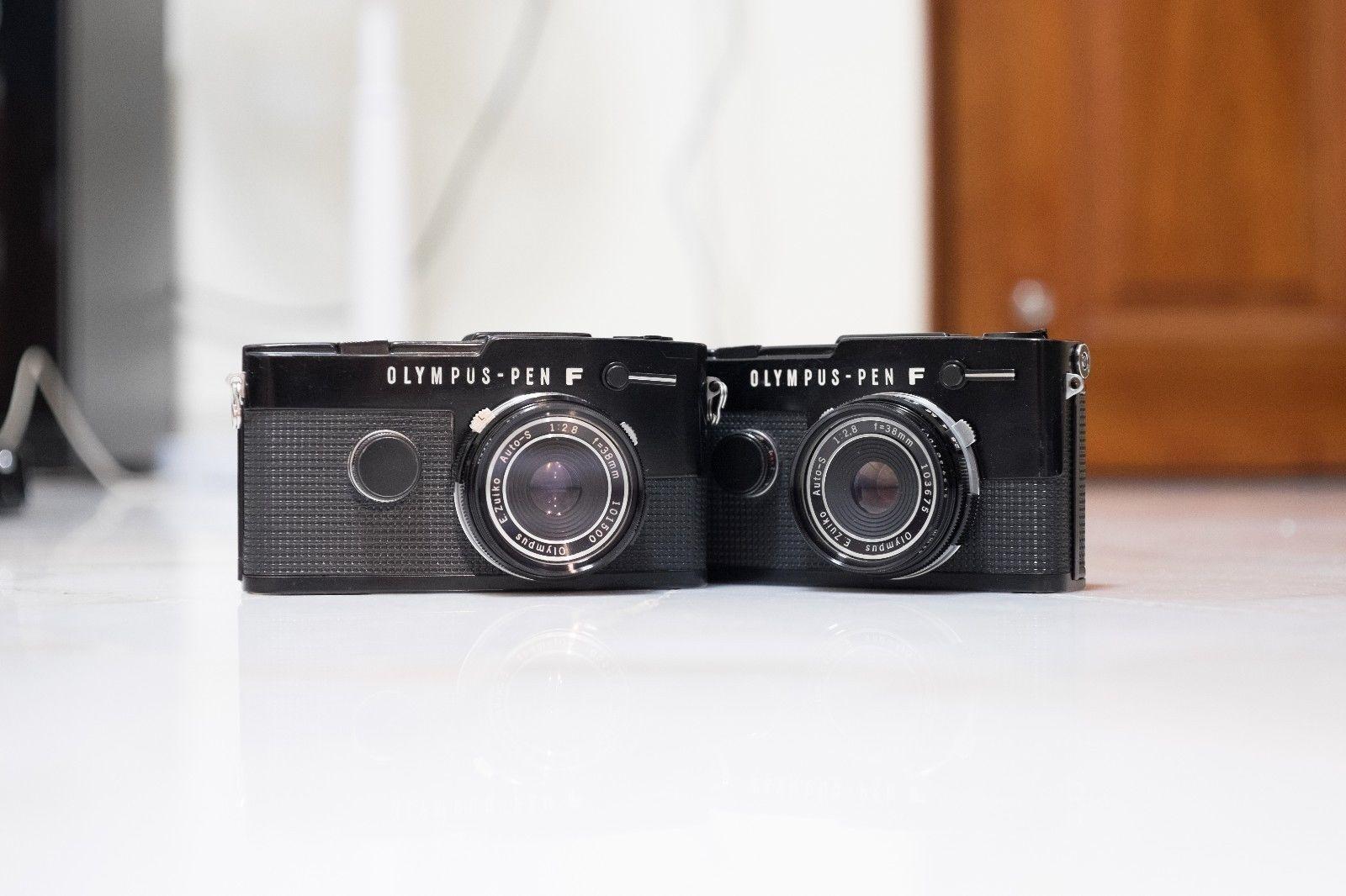 Olympus PEN FT Black 38mm F2 8 Pancake Lens SET OF TWO   eBay ...