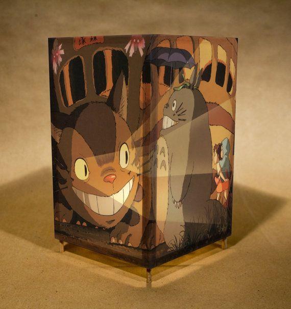 Lampara Catbus De Totoro Noche Luz Luz Con Los Por Lightguild Con Imagenes Totoro Decoracion De Habitaciones Decoracion De Unas