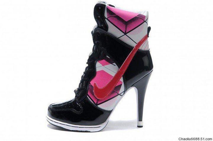 best service b1d58 ceb8e Nike Dunk SB High Top Heels Kvinna Svart Rosa 48564
