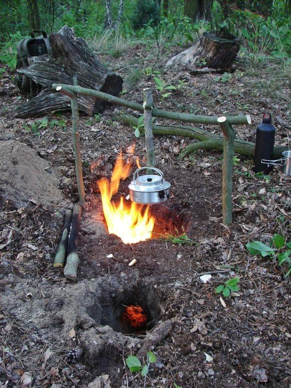 Dakota Fire Hole Ognisko W Dziurze Bushcraft Survival Ognisko