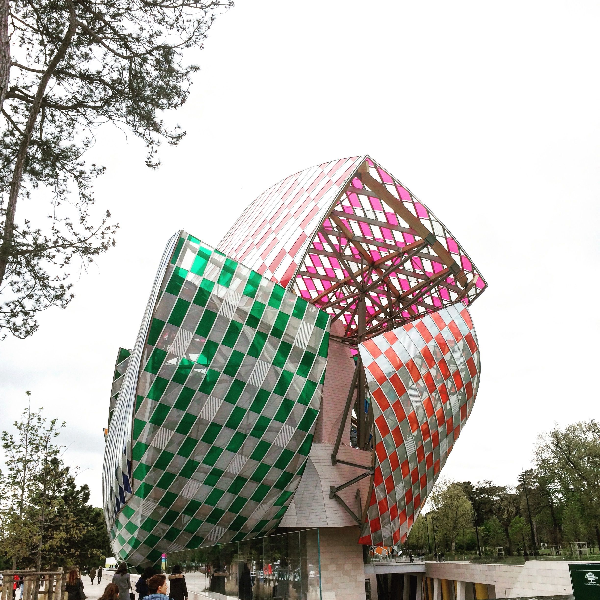 The Fondation Louis Vuitton situated in the Bois de Boulogne a